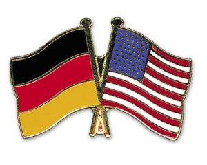 Deutschland-USA Freundschaftspin Flaggenpin