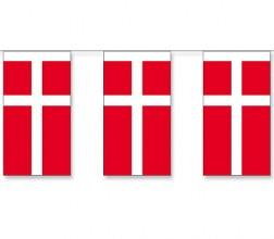 Dänemark Länderkette 3 m - 10 Flaggen á 15x22,5cm