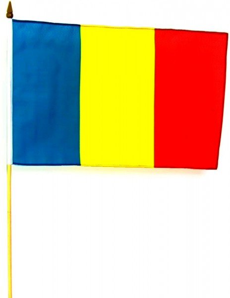 Rumänien Stockfahne 30cm x 45 cm