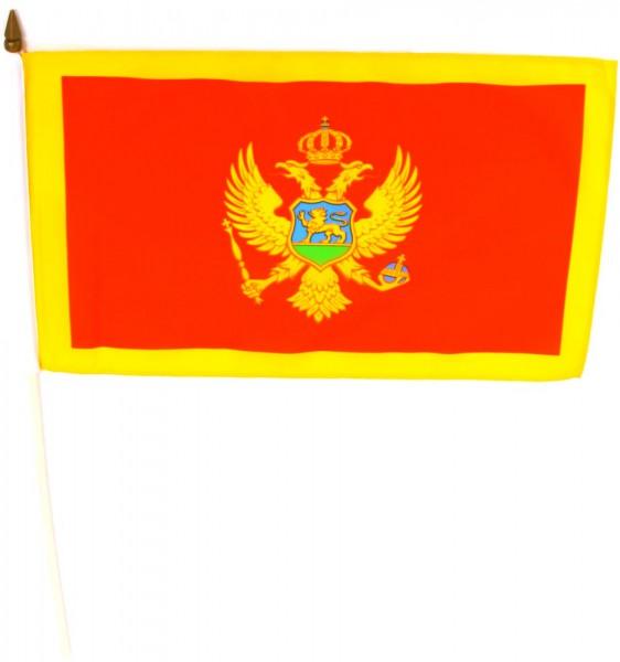 Montenegro Stockflagge 30x45 cm