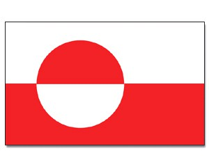 Groenland Flagge 90 x 150 cm