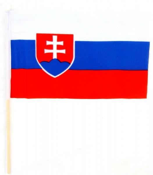 Slowakei Tischfahne 22,5x15cm