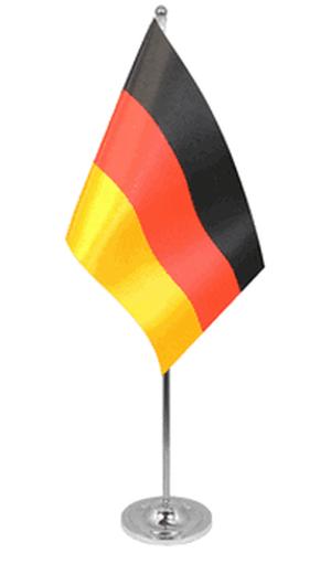 Deutschland Tischfahne 22,5x15cm Satin