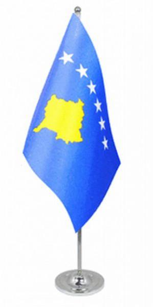 Kosovo Tischfahne 22,5x15cm Satin