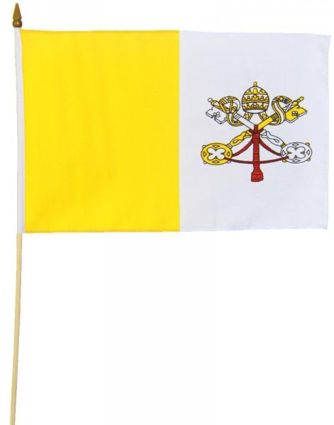 Vatikan Stockflagge 30x45 cm