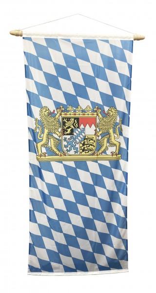 Bayern Bannerfahne mit Löwenwappen 100 x 300 cm
