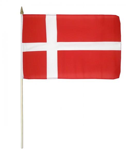 Dänemark Stockfahne 30 x 45 cm