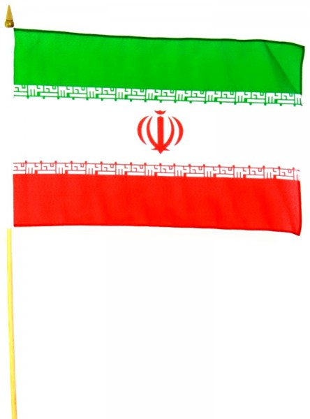 Iran Stockfahne 30cm x 45 cm