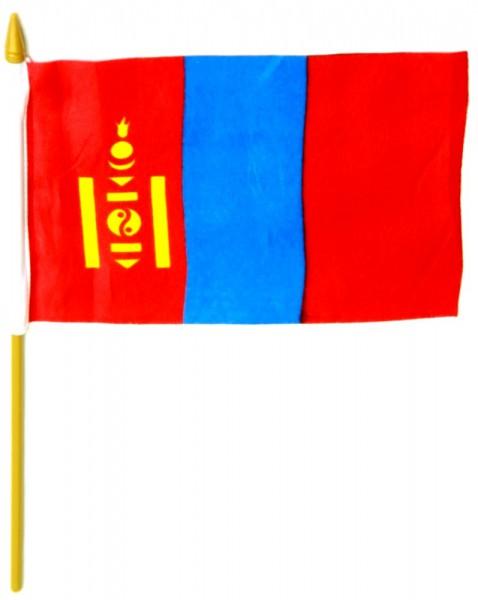 Mongolei Tischfahne 10x15cm