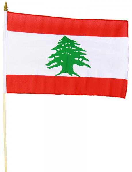 Libanon Stockfahne 30cm x 45cm