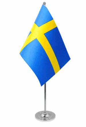 Schweden Tischfahne 22,5x15cm Satin