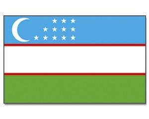 Usbekistan Stockfahne 30cm x 45 cm