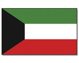 Kuwait Stockfahne 30cm x 45 cm