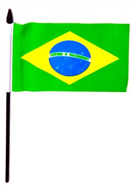 Brasilien Tischfahne 10x15cm