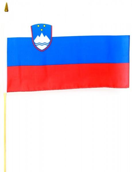 Slowenien Stockfahne 30 x 45 cm