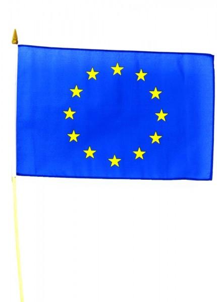 Europa Stockfahne 30 x 45 cm