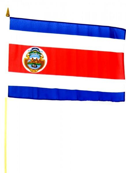 Costa Rica Stockfahne 30cm x 45 cm