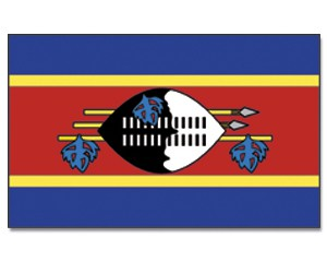 Swasiland Flagge 90 x 150 cm