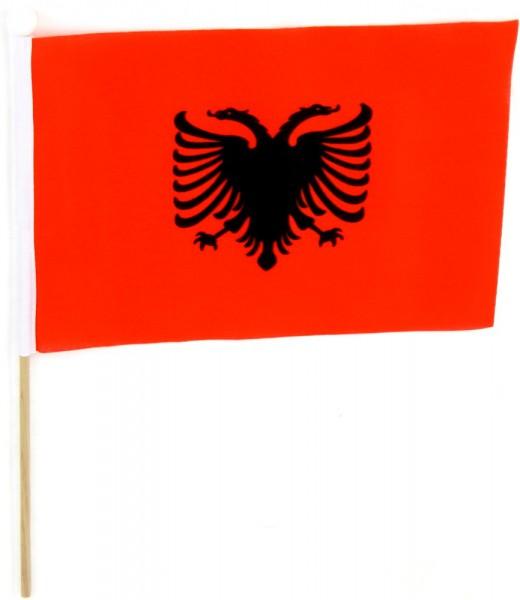Albanien Tischfahne 22,5x15cm