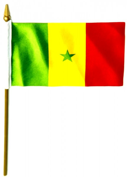 Senegal Tischfahne 10x15cm