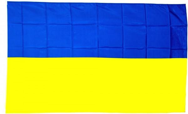 Ukraine Hohlsaumflagge 60x90 cm
