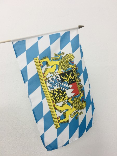 Bayern Löwenwappen Stockfahne 30cm x 45 cm