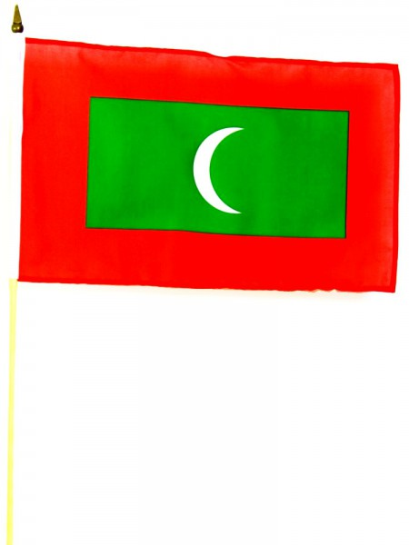 Malediven Stockfahne 30cm x 45 cm