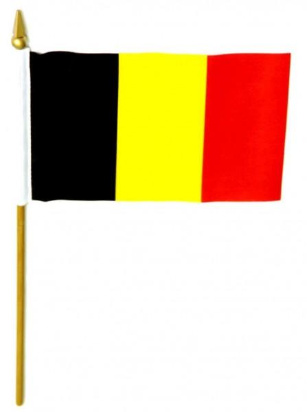 Belgien Tischfahne 10x15cm