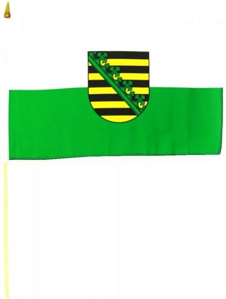 Sachsen Stockfahne 30cm x 45 cm