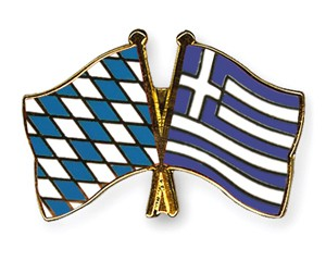 Bayern-Griechenland Freundschaftspin Flaggenpin