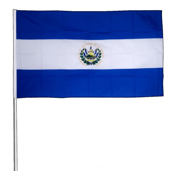 El Salvador Stockfahne 30cm x 45 cm