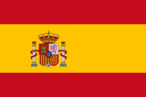 Spanienflagge 90 x 150 cm mit Wappen