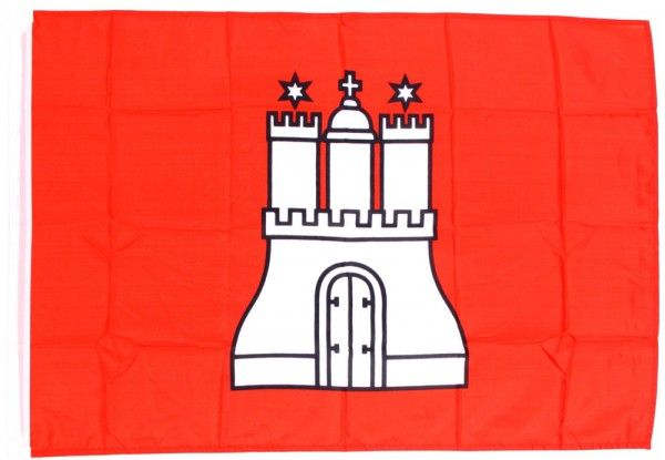 Hamburg Hohlsaumflagge 30x45 cm