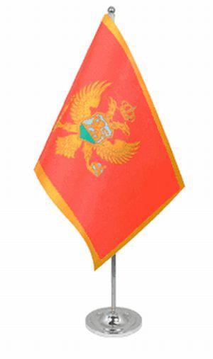 Montenegro Tischfahne 22,5x15cm Satin