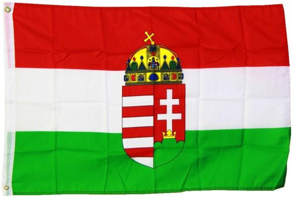 Ungarn mit Wappen 90cm x 150cm