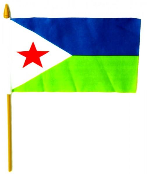 Djibouti Tischfahne 10x15cm