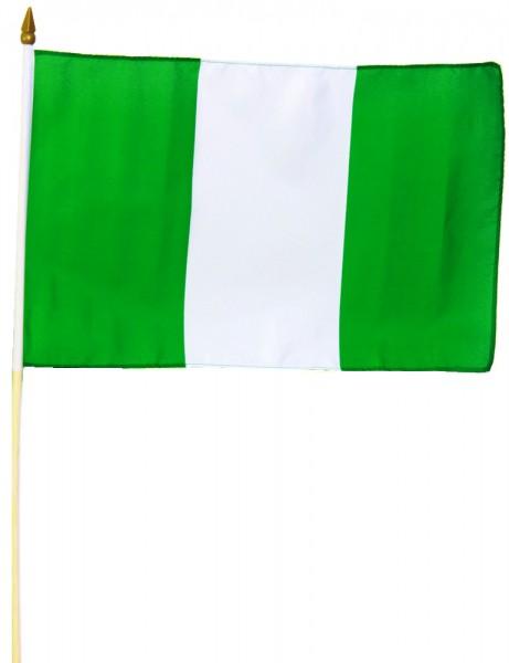 Nigeria Stockfahne 30cm x 45cm