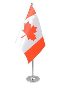 Kanada Tischfahne 22,5x15cm Satin