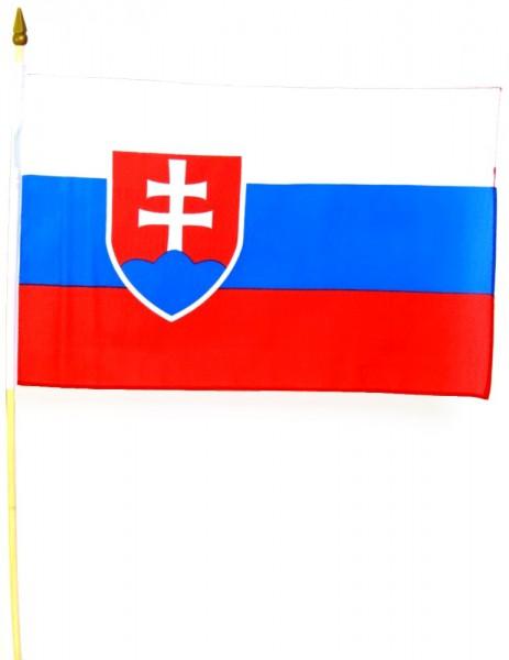 Slowakei Stockfahne 30 x 45 cm