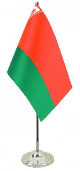 WeißrusslandTischfahne 22,5x15cm Satin