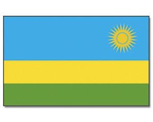 Ruanda Stockfahne 30cm x 45 cm
