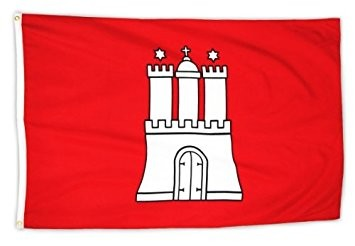 Hamburg Flagge 60 x 90 cm