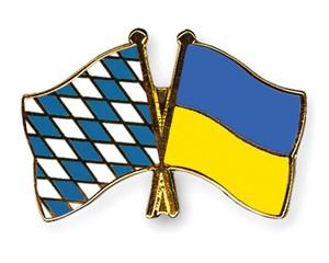 Bayern-Ukraine Freundschaftspin Flaggenpin