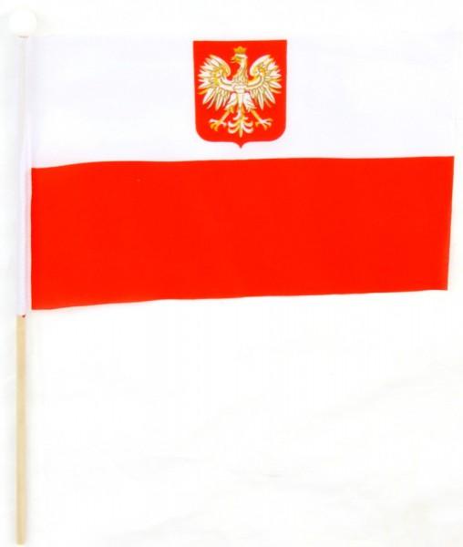 Polen Tischfahne 22,5x15cm mit Adler