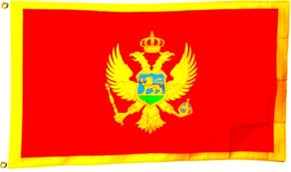 Montenegroflagge 90 x 150 cm