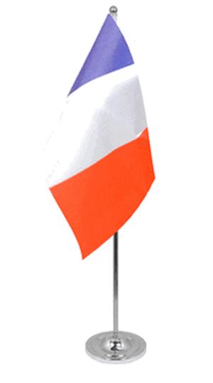 Frankreich Tischfahne 22,5x15cm Satin