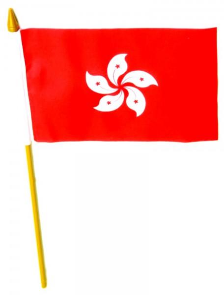 Hong Kong Tischfahne 10x15cm