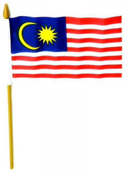 Malaysia Tischfahne 10x15cm