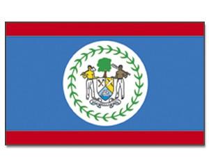 Belize Stockfahne 30cm x 45 cm