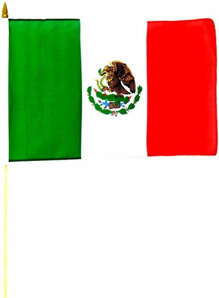 Mexiko Stockfahne 30cm x 45 cm